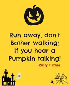 Pumpkin sprint... A Halloween poem