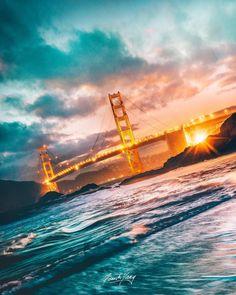 Golden Gate Bridge #sanfrancisco #sf #bayarea #alwayssf #goldengatebridge #goldengate #alcatraz #california