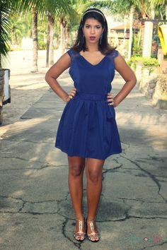 Look do dia: Blue dress    por Juh Piazzarollo | Curiosa Juh       - http://modatrade.com.br/look-do-dia-blue-dress