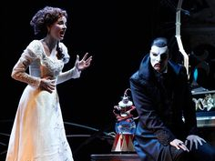 Anna O'Byrne as Christine and Ben Lewis as the Phantom in Love Never Dies- Costumes and set by Gabriella Tylesova.