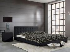 Polsterbett Bett Doppelbett Bettgestell Bettrahmen Sandra Schwarz 200x200 cm