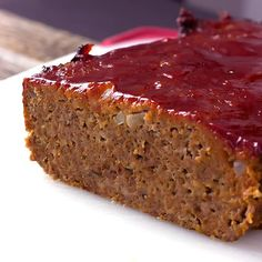 The Best Classic Meatloaf - Best meatloaf recipe ever! Traditional meatloaf just like mom used to make with ground beef and a ketchup based glaze topping.