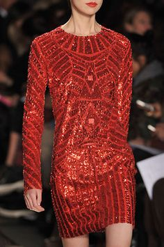 "RED Sequined   ""BLING"" Dress....Classy...Sophisticated!"