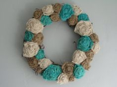 Grapevine Burlap Wreath  14  natural ivory by TheWalnutStreetHouse