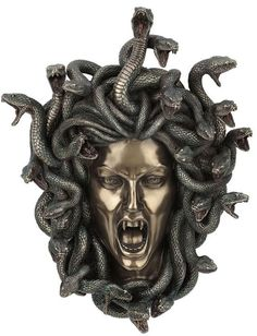 Find Medusa Head w/ Snake Hair Gorgon Lady Wall Plaque online. Shop the latest collection of Medusa Head w/ Snake Hair Gorgon Lady Wall Plaque from the popular stores - all in one Medusa Kunst, Medusa Art, Medusa Gorgon, Medusa Tattoo, Medusa Head, Art Sculpture, Wall Sculptures, Statues, Medusa Snake
