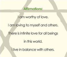<3 heart chakra affirmation