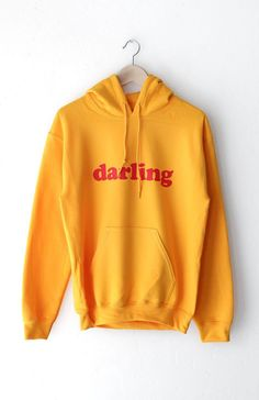 26dea2130c5a Description - Size Guide Details  Oversized hoodie in gold with print  featuring  Darling