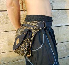 Cadera de geometría sagrada bolso flor de utilidad festival