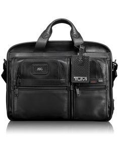 7538e28e3ef62 Tumi Expandable Organizer Laptop Leather Brief  625 Tumi