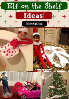 100+ Elf on the Shelf ideas and inspirations!!  Some of these are down right hilarious!