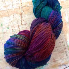 Junebug  4ply merino/nylon sock yarn by theflyingkettle on Etsy, $22.00