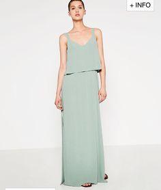Vestido gray jade o verde aqua