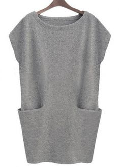 Comfy Pocket Design Scoop Neck Dress Light Grey with cheap wholesale price, buy Comfy Pocket Design Scoop Neck Dress Light Grey at rotita.com ! Has anyone purchased from this site? Is it Legit??