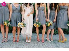 Colores novedosos para las damas de la boda