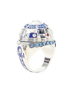 <p>This IS the droid you're looking for! Ring from Star Wars with a gem accented R2-D2 design.</p>  <ul> 	<li>Size 7</li> 	<li>Alloy</li> 	<li>Imported</li> </ul>
