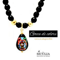Gioielli Sicilia, dipinti a mano. Argento 925. Pendant Necklace, Jewelry, Ear Rings, Jewlery, Jewerly, Schmuck, Jewels, Jewelery, Drop Necklace