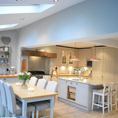 Thanks for sharing her kitchen with us – looks fantastic! Thanks for sharing her kitchen with us – looks fantastic! Home Decor Kitchen, Kitchen Dining Living, Open Plan Kitchen Dining, Kitchen Remodel, Kitchen Decor, New Kitchen, Home Kitchens, Open Plan Kitchen Diner, Kitchen Design