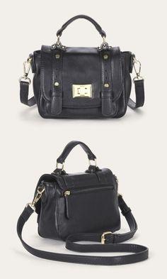 Mini messenger bag in black