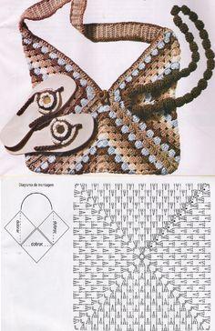 Transcendent Crochet a Solid Granny Square Ideas. Inconceivable Crochet a Solid Granny Square Ideas. Free Crochet Bag, Crochet Shell Stitch, Crochet Tote, Crochet Handbags, Crochet Purses, Diy Crochet, Crochet Diagram, Crochet Chart, Crochet Patterns