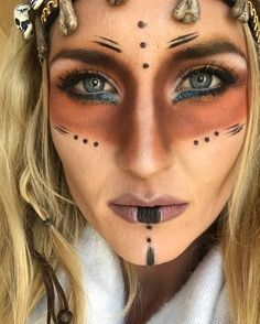 Tribal Halloween makeup. Voodoo. Witch