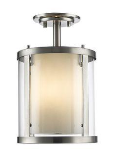 Z-Lite 426SF-BN 3 Light Semi-Flush Mount