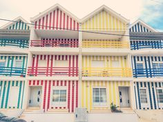 """24 Hours in Aveiro, the Candy-Colored """"Venice of Portugal"""" (Messy Nessy Chic) Costa Nova Portugal, Porto Portugal, Visit Portugal, Spain And Portugal, Portugal Vacation, Hotels Portugal, Portugal Travel, Messy Nessy Chic, Colombia Travel"""