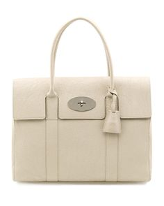 """Mulberry """"Bayswater"""" Grainy Patent Leather Tote"""