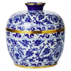 """Check out this item at One Kings Lane! 12"""" Vine Covered Bowl, Blue/White"""