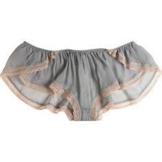 Kiki de Montparnasse Amour Le Reve Short (€150) ❤ liked on Polyvore featuring intimates, panties, underwear, lingerie, undies, women, lace panty, lace lingerie, stripe panties and nude lingerie