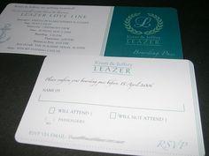Lake Travis boarding pass wedding invitations