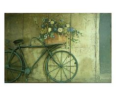Quadro Bicicleta Flowers - 60x40cm
