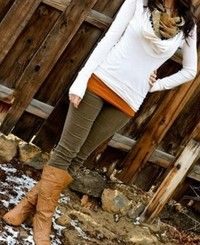 Love this outfit! Great fall colors!