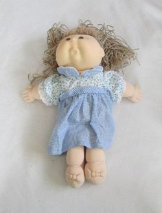 Crimp and Curl Cabbage Patch Doll First Edition 1990 RARE Hasbro Xavier Roberts #DollswithClothingAccessories