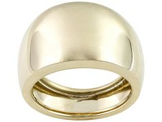 10k Yellow Gold Comfort Fit Polished Wide Band Ring With Tapered Shank