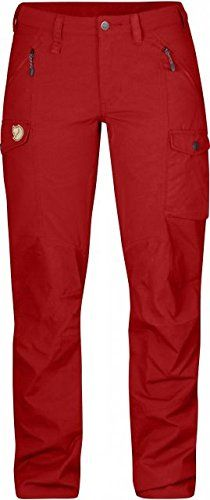 Fjallraven  Womens Nikka Trousers Red Size 44 ** Visit the image link more details. (This is an affiliate link) #WomenPants