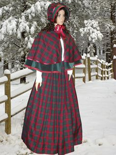 Marie for Carolling---Ladies 3pc Victorian Dickensian Gentry Costume Fancy Dress