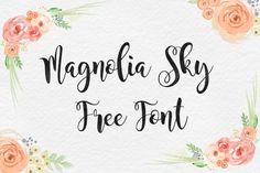 DLOLLEYS HELP: Magnolia Sky Free Font