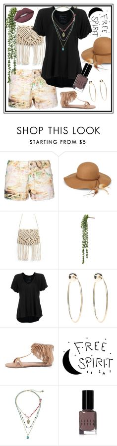 """""""free spirit"""" by mk-ps-catz ❤ liked on Polyvore featuring Steve Madden, Free People, Bebe, Qupid, Betsey Johnson, Bobbi Brown Cosmetics and Lime Crime"""