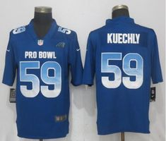 Men Carolina Panthers 59 Kuechly Blue New Nike Royal 2018 Pro Bowl Limited  NFL Jerseys 4c798f26f