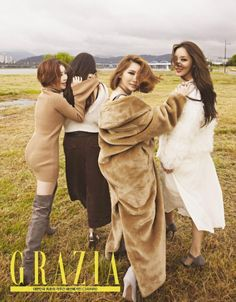 The long-running girl group is gearing up for a comeback with this magazine pictorial. In shedding more light on the Brown Eyed Girls highly anticipated fall comeback, the members did a photo shoot for fashion magazine GRAZIA. Grazia Magazine, Girls Showing Off, Ga In, Brown Eyed Girls, Girl Running, Korean Music, Girl Day, Brown Eyes, Thankful