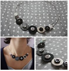 button necklace - for @Mindy Burton Burton Maros and her button obsession. :)