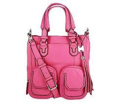 This pink Aimee Kestenberg Leather Shoulder Bag is too chic!