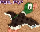 Duck Hunt Mario handmade in perler beads