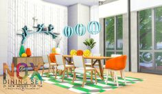 Sims 4 CC's - The Best: Dining Room by Peacemaker