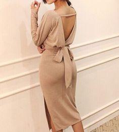 Backless classy dress