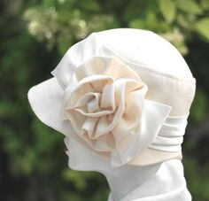 Ivory Vintage 20's Cloche Wedding Hat