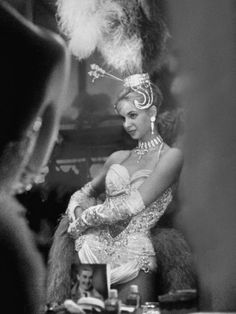 Showgirl Standing in the Dressing Room of the Stardust Hotel Photographic Print