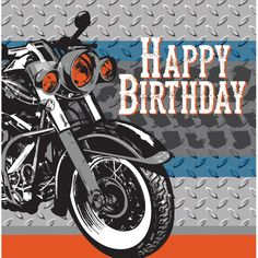 Cycle Shop 2 Ply Lunch Napkins Happy Birthday/Case of 192