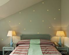 Limited Coupon Codes!! 1. Free Shipping for orders over $50 (Coupon Code: FreeShippingNow) 2. $20 off discount for orders over $100 (Coupon Code: 20OFF)   These are the stars wall pattern. It can be applied almost in any room. I believe it would turn out a dreamlike atmosphere after your application. Size & Price: First size: 3.15wide x 3.15high x 30 decals / 8cm wide x 8cm high x 30 decals [$22] Second size: 5.9wide x 5.9high x 24 decals / 15cm wide x 15cm high x 30 decals [$38] Third…