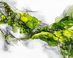Tinta de alcohol moderno abstracto - pintura abstracta, moderna arte, arte abstracto, arte contemporáneo